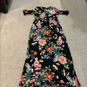Brand new Pink blush maternity maxi dress
